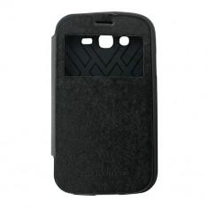 Toc My-Wow Samsung Galaxy Grand Negru - Husa Telefon Atlas, Piele Ecologica