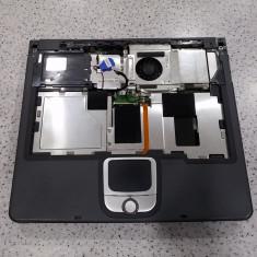 Carcasa inferioara + placa de baza laptop Acer Travelmate 240 de 14 inch - perfect functionala + cpu + cooler, Socket: 478, DDR, Contine procesor