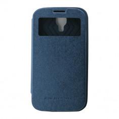 Toc My-Wow Samsung Galaxy S4 Albastru - Husa Telefon Atlas, Piele Ecologica