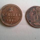 1 KREUZER 1851 A+CADOU 1 KREUZER 1800 MODEST, 100 LEI REGE MIHAI - Moneda Medievala, Europa