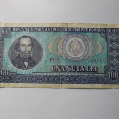 100 Lei 1966 Romania - Bancnota romaneasca