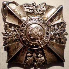 5.607 BULGARIA MEDALIE DECORATIE CRUCEA DE MERIT 1891 17, 2g/38mm, Europa