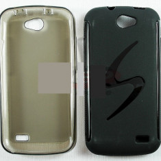 Toc plastic siliconat Allview A5 Duo - Husa Telefon Allview, Negru, Husa