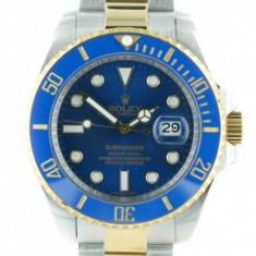 Ceas de mana Rolex Submariner bicolor - blue Dial ! - Ceas barbatesc Rolex, Casual, Inox, Analog