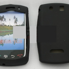 Toc silicon BlackBerry 9500 - Husa Telefon Blackberry, Negru, Husa