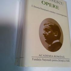 E. LOVINESCU - OPERE - 2 VOLUME - Istoria literaturii romane contemporane- editia Academiei Romane - Carte de lux