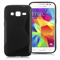 Husa Samsung Galaxy Core Prime G360 TPU S-LINE Black - Husa Telefon Samsung, Negru, Gel TPU, Fara snur, Carcasa