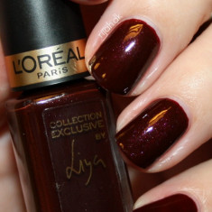 OJA ROSU BURGUNDY L`OREAL PARIS COLOR RICHE COLLECTION EXCLUSIVE LIYA - Lac de unghii