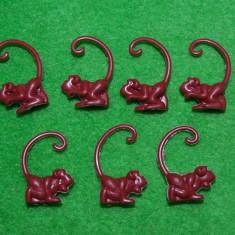 Lot 7 maimute figurina jucarie plastic maro, 3 cm, miniaturi, - Figurina Animale