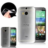 Husa sof silicon transparenta pentru HTC ONE 2 M8 + cablu date cadou