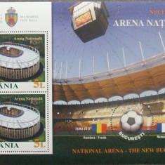 ROMANIA 1915a/2011 - ARENA NATIONALA 1 S/S, NEOBLITERATA - RO 0173, Romania de la 1950