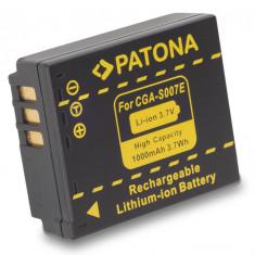 1 PATONA | Acumulator pt Panasonic CGA-S007 CGA S007 CGAS007 DMC TZ1 TZ2 TZ3 TZ4 - Baterie Aparat foto