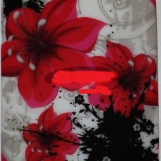 Toc silicon Jelly Case Red Flowers Nokia Lumia 520 - Husa Telefon Nokia, Husa