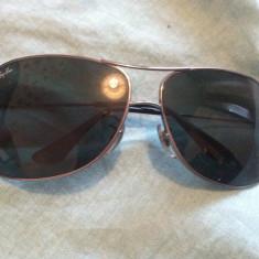 Ochelari originali Ray Ban barbatesti - Ochelari de soare Ray Ban, Barbati, Verde, Dreptunghiulari, Metal, Protectie UV 100%