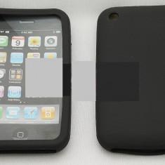 Toc silicon iPhone 3G / 3Gs - Husa Telefon Apple, Negru, Husa