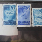 LOT FRATIA DE ARME ROMANO-SOVIETICA POSTA AERIANA 1948(2 BUCATI)+POSTA AERIANA 1947 NESTAMPILATE, Aviatie, Romania 1900 - 1950