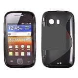 Toc silicon S-Case Samsung Galaxy Y S5360 - Husa Telefon Samsung, Negru, Husa