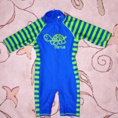 Costum de protectie soare plaja, marca TU, baietei 3-4 ani, Culoare: Albastru, Baieti