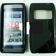 Toc silicon S-Case Nokia N8 - Husa Telefon Nokia, Negru, Husa