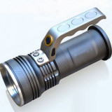 MEGA OFERTA! SUPER PUTERNICA Lanterna cu LED CREE XML T6 + INCARCATOR cu CABLU +3 Faze + MEGA ZOOM + Lupa + 2 Acumulatori 18650 6800mAh-REFLECTOR MARE