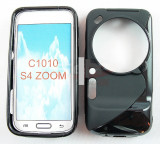 Toc silicon S-Case Samsung Galaxy S4 zoom, Negru, Husa
