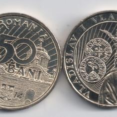 ROMANIA 50 BANI 2014 VLADISLAV VLAICU, UNC, necirculata din fisic - Moneda Romania, Alama