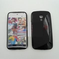 Toc silicon S-Case Motorola Moto G (2014) - Husa Telefon Motorola, Negru, Husa