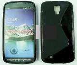 Toc silicon S-Case Samsung I9295 Galaxy S4 Active, Negru, Husa