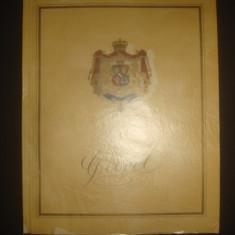 PRINOS MARELUI REGE CAROL I {1939, contine dedicatia Primarului General al Capitalei Gen. Victor Dombrowski catre Generalul Sanatescu} - Carte de lux