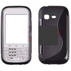 Toc silicon S-Case Samsung Galaxy Chat B5330 - Husa Telefon Samsung, Negru, Husa