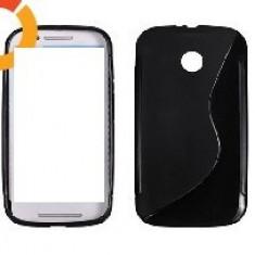 Toc silicon S-Case Motorola Moto E - Husa Telefon Motorola, Negru, Husa