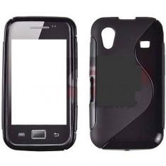 Toc silicon S-Case Samsung Galaxy Ace S5830 - Husa Telefon Samsung, Negru, Husa