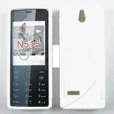 Toc silicon S-Case Nokia 515 - Husa Telefon Nokia, Alb, Husa
