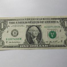 Statele Unite ( SUA ) 1 Dollar 2006 - serie 22074395 ( B - New York ) P#523, circulata - bancnota america
