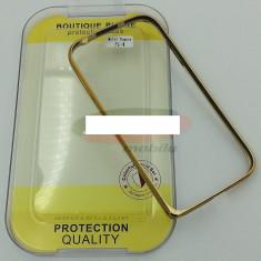 Bumper aluminiu Samsung I9500 Galaxy S4 auriu - Bumper Telefon