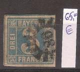 Germania, Bayern, 3 kr., 1849, stampilat