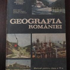 GEOGRAFIA ROMANIEI - CL. A IV-A - Mihai Inacu, V. Motrescu - 1991, 123 p., Alta editura