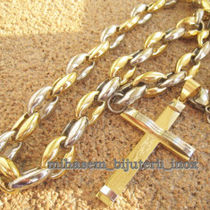 Lant +medalion INOX placat =80 ron - Lantisor placate cu aur