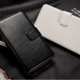 Husa/toc piele fina SAMSUNG GALAXY S2 / S2 PLUS lux, flip cover portofel, ALB - Husa Telefon