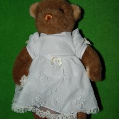 Urs / ursulet de plus, mireasa, marca Gund, Colector's classic, vintage, an 1990, colectie, decor, jucarie, foarte draguta, 32 cm - Jucarie de colectie