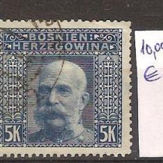 Austria, ocupatia in Bosnia si Hertegovina, Franz Iosef, vederi, 1906, Stampilat