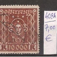 Austria,, nr. 397, 408A,, stampilate, 1922