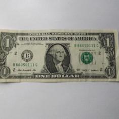 Statele Unite ( SUA ) 1 Dollar 2009 - serie 86050111 ( B - New York ) P#530, circulata - bancnota america