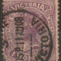 Anglia/Colonii - stat. Australiene - VICTORIA, 1905, regina Victoria, stampilat