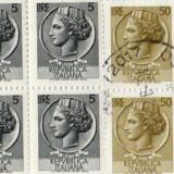 Timbre Italia Bloc de 4, Stampilat