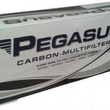 Tuburi PEGASUS CU CARBON ACTIV 200 tuburi, filtre / cutie, pentru injectat tutun, tigari - Foite tigari