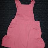 Sarafan de vara roz, marca Evie Angel, fete 18-24 luni