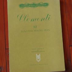 Partitura --- Clementi - 12 sonatine pentru pian - Ed. Muzicala 1979 - 70 pagini