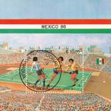 Colita timbre -  Mexico 86, Nestampilat