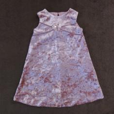 Rochita stralucitoare roz de catifea, marca Daisy B, fetite 12-18 luni